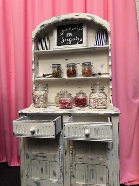sweet dresser hire candy cart Portsmouth
