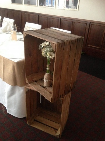 Rustic / Vintage Wooden Apple Crates
