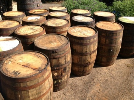 whiskey barrels for hire